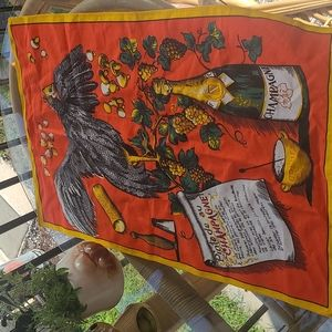 Vintage tapestry with recipe